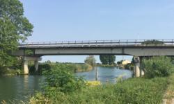 Manutenzione Ponte lungo la SP43 sul fiume Sile a Portegrandi