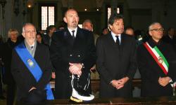 Il commissario Cesare Castelli alla messa per il santo Patrono della Polizia municipale