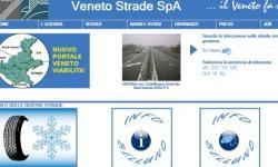 Veneto Strade, particolare della Home Page del sito