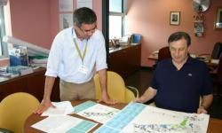 Mario Dalla Tor con il funzionario del servizio caccia Giuseppe Cherubini