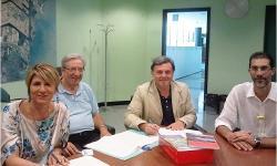 da sin.: M. Rosa Pavanello, Lionello Bortolato, Paolo Dalla Vecchia e Massimo Gattolin