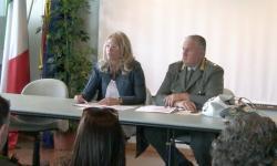 la presidente Zaccariotto con il vicecomandante di polizia provinciale Lunardelli