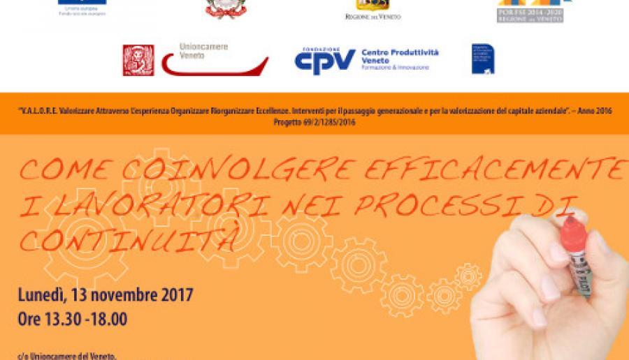 Workshop Come coinvolgere efficacemente i lavoratori nei processi di continuità