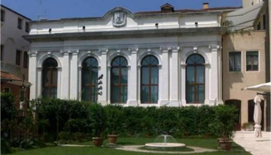 Vista del giardino di Ca' Corner e sala consiliare