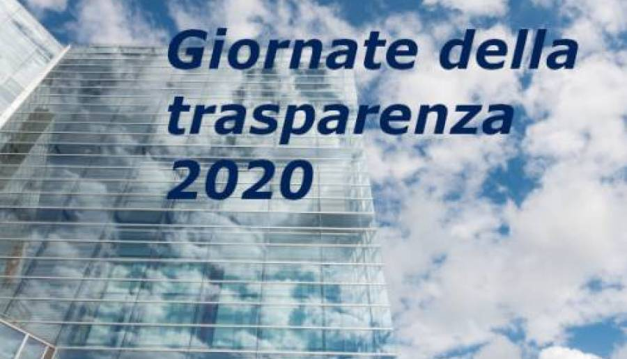 Giornate della trasparenza 2020