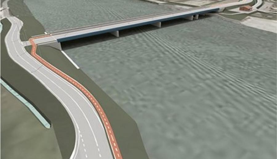 grafica del ponte sulla foce del Brenta