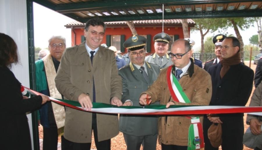 un momento dell'inaugurazione della cavana Cornio Basso a Campagna Lupia