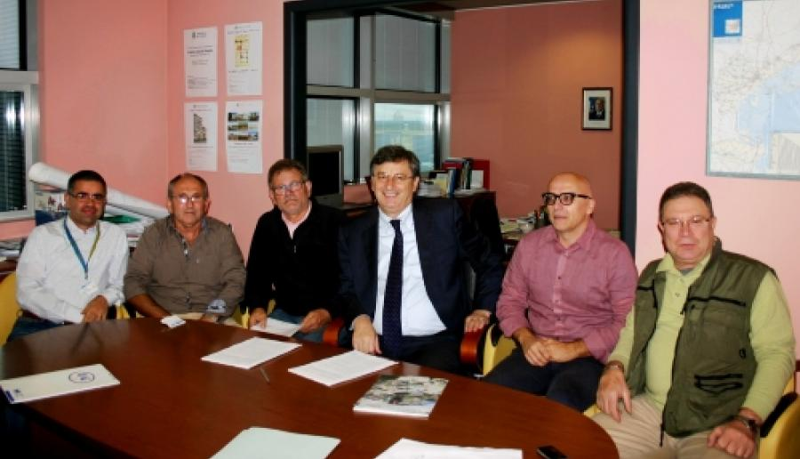 firmatari del protocollo tra Provincia di Venezia e Fidc per la gestione dell'area Le Lame (foto: M. Fletzer)