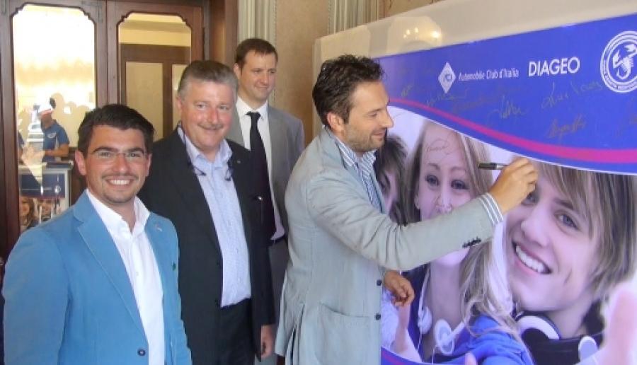 da sin. gli assessori Prataviera, Tessari e Speranzon alla presentazione del progetto Divertiti responsabilmente 2012