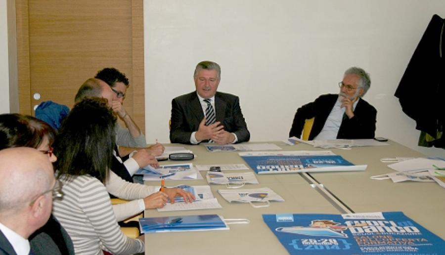 Mestre, un momento della presentazione di Fuori di Banco 2014